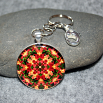 Orchid Key Chain Sacred Geometry Mandala Blazing Beauty