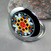 Sunflower Compact Mirror Pocket Mirror Mandala Sacred Geometry Perpetual Hope