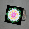Lotus Flower Ceramic Tile Boho Chic Mandala New Age Sacred Geometry Hippie Kaleidoscope Profound Soul