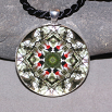 Songbird Pendant Mandala Sacred Geometry Kaleidoscope Bleeding Heart