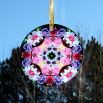 Rose Glass Suncatcher Kaleidoscope Mandala Geometric Petals of Poise