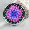 Lily Glass Paperweight Mandala Sacred Geometry Kaleidoscope Innocent Flirtation