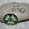 Lady Slipper Key Chain Sacred Geometry Mandala Lady in Waiting