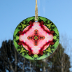 Orchid Glass Suncatcher Kaleidoscope Mandala Geometric Simple Serenity