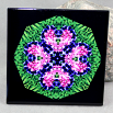 Bleeding Heart Pansy Decorative Ceramic Tile Sacred Geometry Mandala Kaleidoscope Love Struck