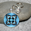 Loon Key Chain Sacred Geometry Mandala Serene Serenade