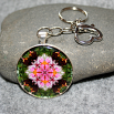 Bleeding Heart Key Chain Sacred Geometry Mandala My Love