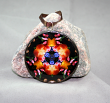 Tulip Hyacinth Floral Glass Ornament Sacred Geometry Mandala Kaleidoscope Spring Fling