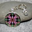 Rose Key Chain Sacred Geometry Mandala Smitten