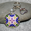 Iris Key Chain Sacred Geometry Mandala Eternal Elation