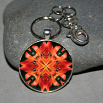 Dragonfly Keychain Bag Charm Boho Chic Mandala New Age Sacred Geometry Kaleidoscope Blaze of Glory