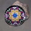 Dahlia Glass Paperweight Boho Chic Mandala New Age Sacred Geometry Kaleidoscope Deepest Devotion