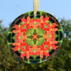 Lily Suncatcher Glass Mandala Sacred Geometry Kaleidoscope Blooming Inspiration