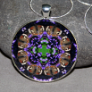 Butterfly Pendant Necklace Boho Chic Mandala New Age Sacred Geometry Kaleidoscope Delightful Soul