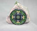 Goldfinch Glass Ornament Sacred Geometry Mandala Kaleidoscope Gold Rush
