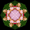 Custom Childrens Mandala Personalized Kaleidoscopic Boho Chic New Age Sacred Geometry Design