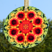 Blanket Flower Glass Suncatcher Mandala Sacred Geometry Kaleidoscope A Ray of Hope