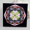 Turtle Decorative Ceramic Tile Sacred Geometry Mandala Kaleidoscope Poutin' Painter