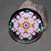 Lily Glass Paperweight Boho Chic Mandala New Age Sacred Geometry Kaleidoscope Tickled Pink