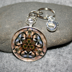 Chickadee Key Chain Sacred Geometry Mandala Chipper Chickadee