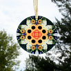 Sunflower Glass Suncatcher Sacred Geometry Mandala Kaleidoscope Perpetual Hope