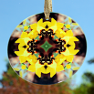 Honey Bee Daffodil Glass Suncatcher Mandala Sacred Geometry Kaleidoscope Busy Bee