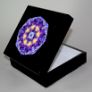 Pansy Music Box Keepsake Box Boho Chic Mandala New Age Sacred Geometry Hippie Kaleidoscope Purple Prose