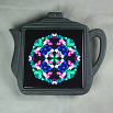 Butterfly Trivet Cast Iron Teapot Ceramic Tile Mandala Sacred Geometry Kaleidoscope Whimsical Persuasion