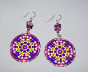 Daffodil Earrings Dangle Boho Chic Mandala New Age Sacred Geometry Hippie Kaleidoscopic Joyful Jonquils