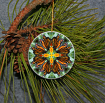 Ornament Christmas Ceramic Monarch Butterfly Mandala All Occasion Sacred Geometry Kaleidoscope Boho Chic New Age Bohemian Modern Unique Timeless Treasure