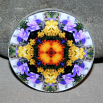 Wildflower Magnet Mandala Sacred Geometry Kaleidoscope Fridge Magnet Autumn Offerings