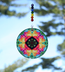 Rainbow Rose Glass Suncatcher Chakra Mandala Boho Chic New Age Sacred Geometry Hippie Kaleidoscope Meditation Zen Unique Gift For Her Ornate Opus