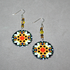 Sunflower Earrings Silver Mandala Sacred Geometry Kaleidoscope Perpetual Hope