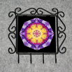 Pansy Organizer Rack Jewelry Rack Key Rack Utensil Rack Boho Chic New Age Sacred Geometry Kaleidoscope Endearing Memories