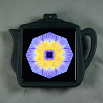 Water Lily Trivet Cast Iron Teapot Mandala Sacred Geometry Kaleidoscope Eye of the Beholder