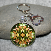 Lady Slipper Purse Charm KeyChain Sacred Geometry Mandala My Heart's Desire