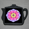 Rose Trivet Cast Iron Teapot Boho Chic Mandala New Age Sacred Geometry Hippie Kaleidoscope A Fanciful Fondness