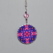 Hyacinth Charm Necklace Silver Mandala Sacred Geometry Kaleidoscope Frolicking Flora