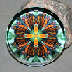 Butterfly Paperweight Mandala Sacred Geometry Kaleidoscope Timeless Treasure