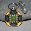 Bee Keychain Bag Charm Boho Chic Mandala New Age Sacred Geometry Kaleidoscope BEElieve