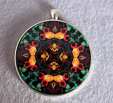 Sale Special Rose Pendant Sacred Geometry Mandala Kaleidoscope Necklace Everlasting Love