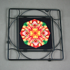 Dragonfly Black Iron Ceramic Tile Trivet Sacred Geometry Mandala Kaleidoscope Opulent Solace