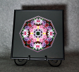 Rose Mandala Kaleidoscope Framed Fine Art Print With Mat Kaleidoscopic Nature Photography Flower Photograph Unique Wall Decor Petals Of Poise