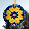 Daisy Suncatcher Glass Boho Mandala Sacred Geometry New Age Kaleidoscope You Are My Sunshine