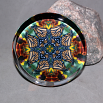 Monarch Butterfly Glass Paperweight Boho Chic Mandala New Age Sacred Geometry Kaleidoscope Celestial Chi