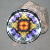 Autumn Glass Paperweight Boho Mandala Sacred Geometry New Age Kaleidoscope Autumn Offerings