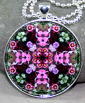Rose Pendant Sacred Geometry Mandala Kaleidoscope Necklace Smitten