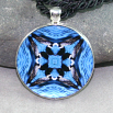 Loon Pendant Sacred Geometry Mandala Kaleidoscope Medallion Necklace Serene Serenade