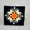 Sunflower Decorative Ceramic Tile Sacred Geometry Mandala Kaleidoscope Perpetual Hope