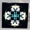 Wolf Decorative Ceramic Tile Coaster Sacred Geometry Kaleidoscope Ominous
